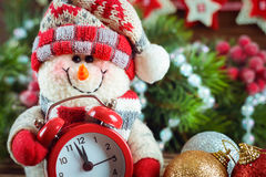 Nowy Rok i Chrismas bałwan Obrazy Royalty Free
