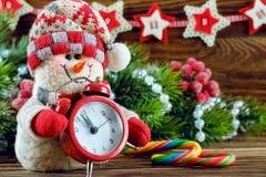 Nowy Rok i Chrismas bałwan Zdjęcia Royalty Free