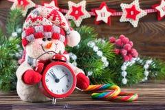 Nowy Rok i Chrismas bałwan Zdjęcie Stock