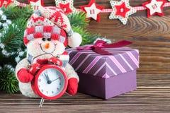 Nowy Rok i Chrismas bałwan Zdjęcie Royalty Free