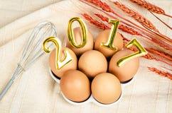 Nowy rok i jajka Zdjęcia Stock