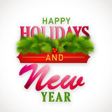 Nowy Rok i Szczęśliwych wakacji świętowań plakatowy projekt Zdjęcie Stock