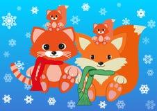 Nowy rok i xmas z famijly Zdjęcie Royalty Free