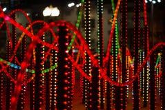 Nowy rok iluminacja w nocy mieście zdjęcie royalty free
