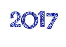 Nowy rok 2017 inskrypcja Fotografia Royalty Free