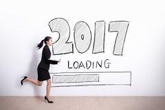 Nowy Rok jest ładowniczy teraz Fotografia Stock