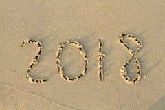 Nowy Rok 2018 jest nadchodzącym pojęciem Obrazy Stock