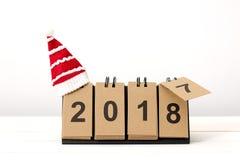 Nowy Rok 2018 jest nadchodzącym pojęciem Fotografia Stock