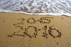 Nowy Rok 2016 jest nadchodzącym pojęciem Fotografia Royalty Free