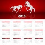 2014 nowy rok kalendarzowa wektorowa ilustracja Zdjęcie Royalty Free
