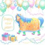 Nowy Rok karta. Obrazy Royalty Free