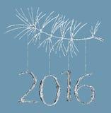 Nowy rok karta Ilustracja Wektor