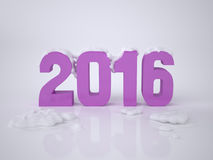 Nowy Rok karta 2016 Obrazy Royalty Free