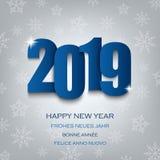Nowy Rok karta z liczbami w błękitnym projekcie ilustracji