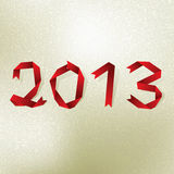 Nowy 2013 rok kartka z pozdrowieniami. + EPS8 Zdjęcie Royalty Free