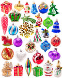 Nowy rok kolorowych dekoracj duży set Obraz Stock