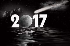 Nowy Rok księżyc i ilustracji