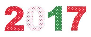 Nowy Rok 2017 liczb Zdjęcia Royalty Free