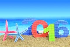 Nowy rok liczba 2016 Obrazy Stock