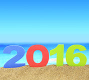 Nowy rok liczba 2016 Obrazy Royalty Free
