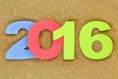 Nowy rok liczba 2016 Zdjęcia Royalty Free