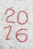 Nowy rok liczba w koralikach Zdjęcia Stock