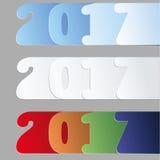2017 nowy rok liczby projekt Obraz Stock