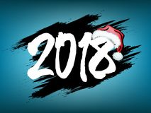 Nowy Rok liczy 2018 royalty ilustracja