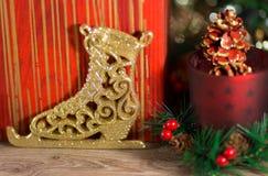 Nowy Rok lodowa łyżwa Zdjęcie Royalty Free