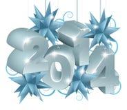 Nowy Rok lub boże narodzenia 2014 dekoraci Obraz Royalty Free