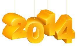 Nowy Rok lub boże narodzenia 2014 ornamentu Obrazy Stock