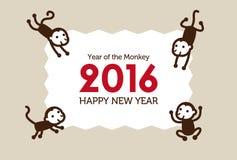 Nowy Rok Małpia ilustracja Fotografia Stock