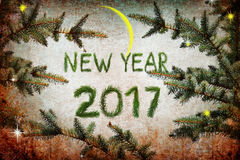 Nowy rok magii noc Zdjęcia Stock