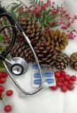 Nowy rok medyczna karta Fotografia Royalty Free