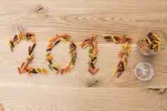 2017 nowy rok mowa na desce Obrazy Royalty Free