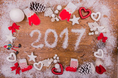 2017 nowy rok mowa na desce Fotografia Stock