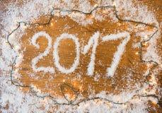 2017 nowy rok mowa na desce Obraz Royalty Free