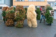Nowy Rok Mummers &-x28; Silvesterchlausen&-x29; w Urnasch, Appenzell Zdjęcia Royalty Free