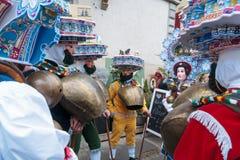 Nowy Rok Mummers &-x28; Silvesterchlausen&-x29; w Urnasch, Appenzell Obraz Stock