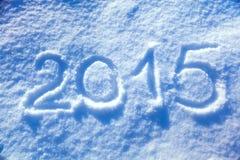 2015 nowy rok śnieg Fotografia Royalty Free