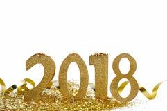 Nowy rok oblicza 2018 Zdjęcia Stock