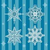 Nowy Rok płatki śniegu błękitni Zdjęcia Royalty Free