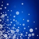 Nowy Rok płatki śniegu na błękitnym tle royalty ilustracja