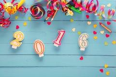 2016 nowy rok partyjny tło Zdjęcie Stock