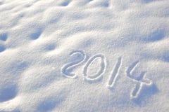 Nowy rok 2014 Obraz Royalty Free