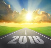 2018 nowy rok pojęcie Fotografia Stock