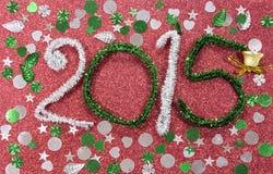Nowy rok postacie - czerwień z dzwonem Obrazy Royalty Free