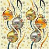 Nowy rok. Powitań bożych narodzeń tło. Obraz Royalty Free