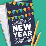 Nowy Rok powitań karta Zdjęcia Royalty Free