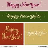 Nowy Rok powitań handmade set Zdjęcie Royalty Free